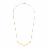 V Brass Necklace
