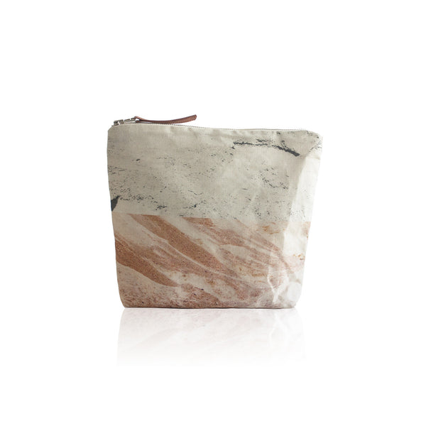 Foldover Clutch In Stone