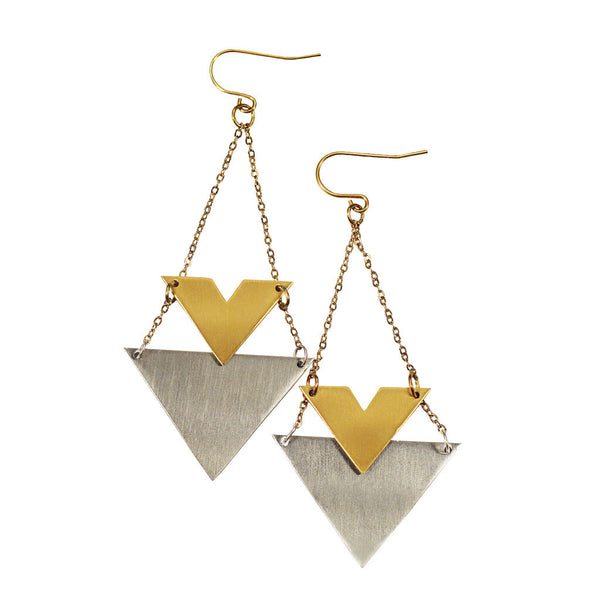 Wynne Triangle Drop Earrings