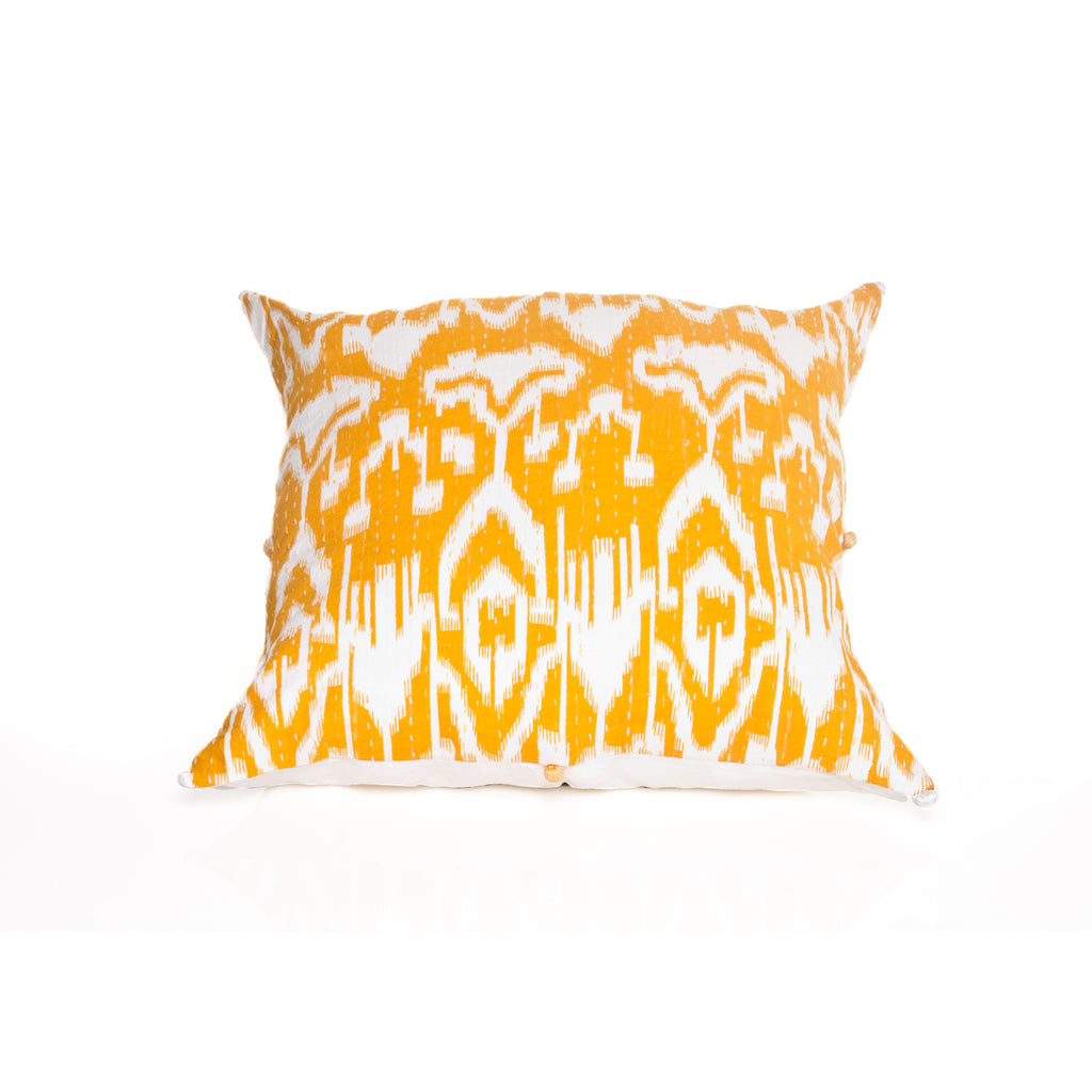 Yellow Ikat Pillow Cover