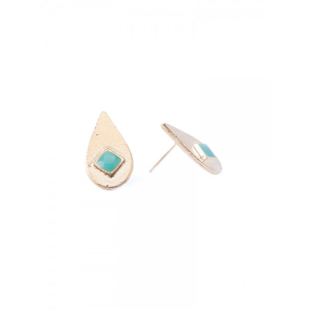 Iona Gold Tear Drop Studs
