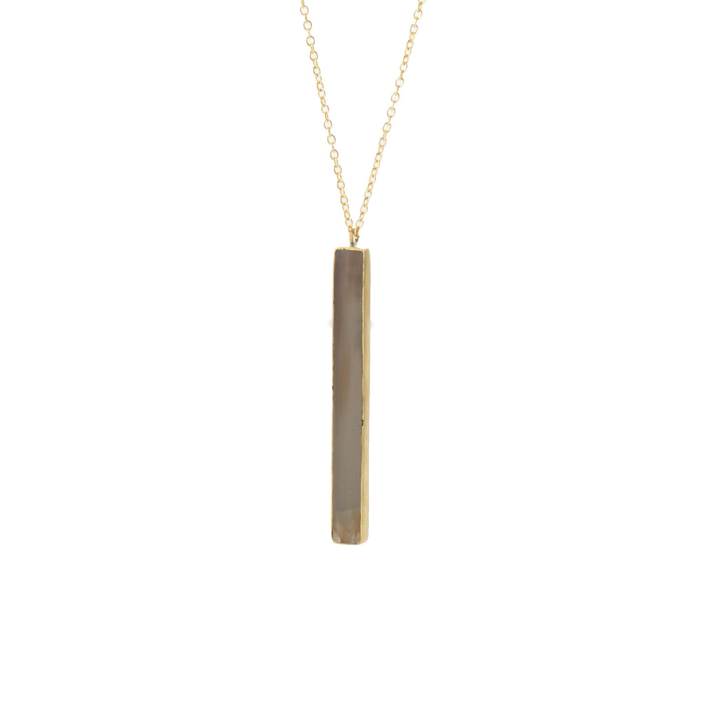 Horn Bar Pendant Necklace