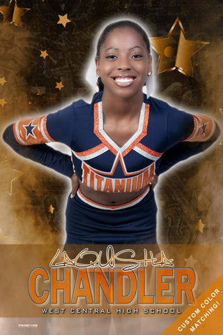 Cheer Dance Senior Banner Sports Poster
