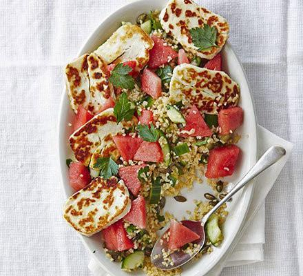 Halloumi & Watermelon Bulgur Salad