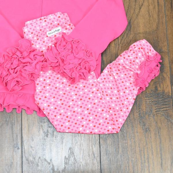 Lovely Hearts Button Leggings - Ooh La La Ruffles Boutique