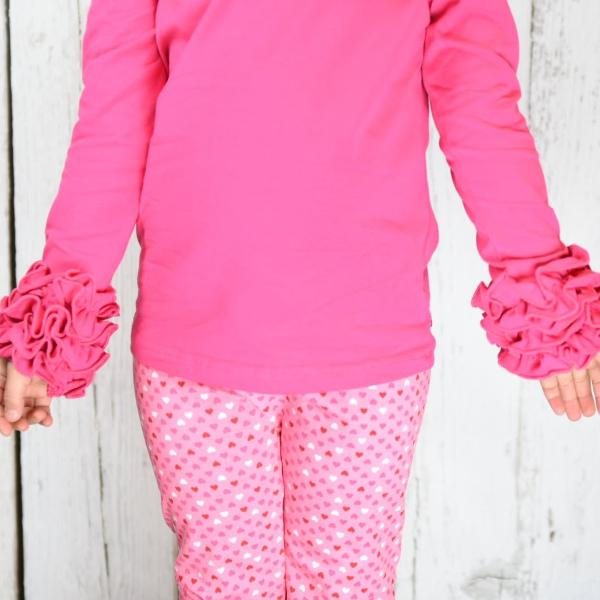 Hot Pink Icing Top - Ooh La La Ruffles Boutique