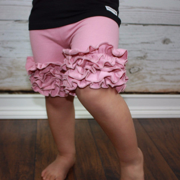 Blushing Mauve Icing Shorties - Ooh La La Ruffles Boutique