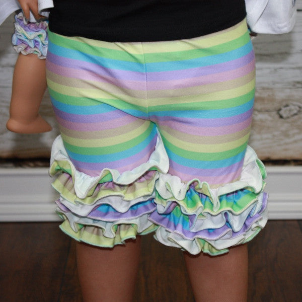 Rainbow Sherbet Shorties (Milk Silk) - Ooh La La Ruffles Boutique