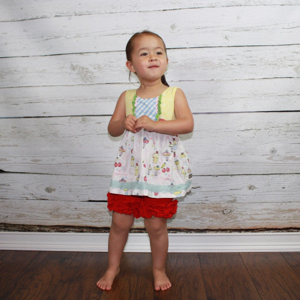 Rosey Red Icing Shorties - Ooh La La Ruffles Boutique