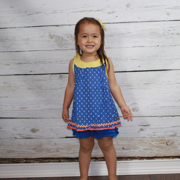 Royal Blue Ruffle Shorties - Ooh La La Ruffles Boutique