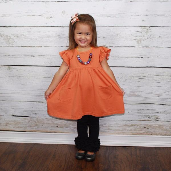 Autumn Spice Pearl with Pockets - Ooh La La Ruffles Boutique