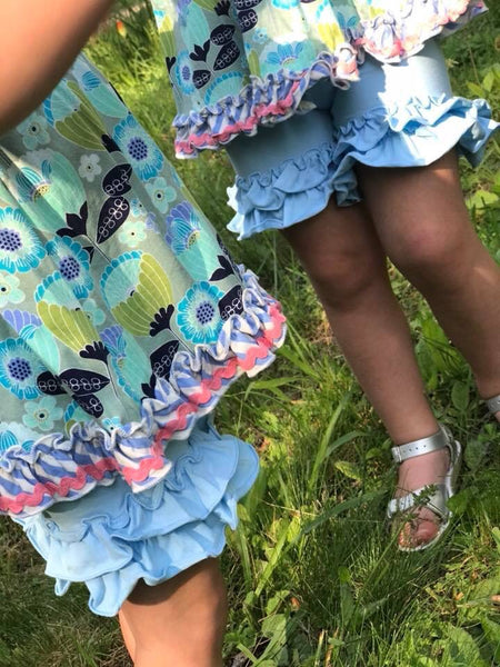 Sky Blue Shorties - Ooh La La Ruffles Boutique
