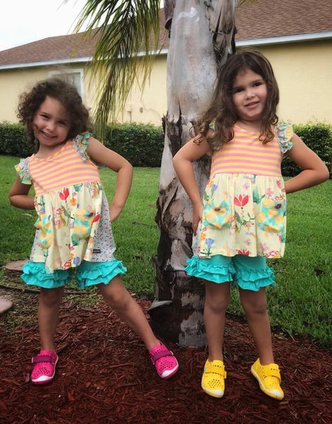 Mermaid Shorties - Ooh La La Ruffles Boutique