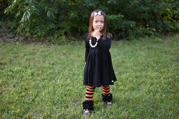 Spooky Pumpkin Stripe Icings - Ooh La La Ruffles Boutique
