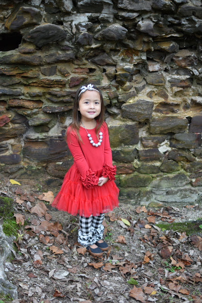 Red Icing Tutu Dress - Ooh La La Ruffles Boutique