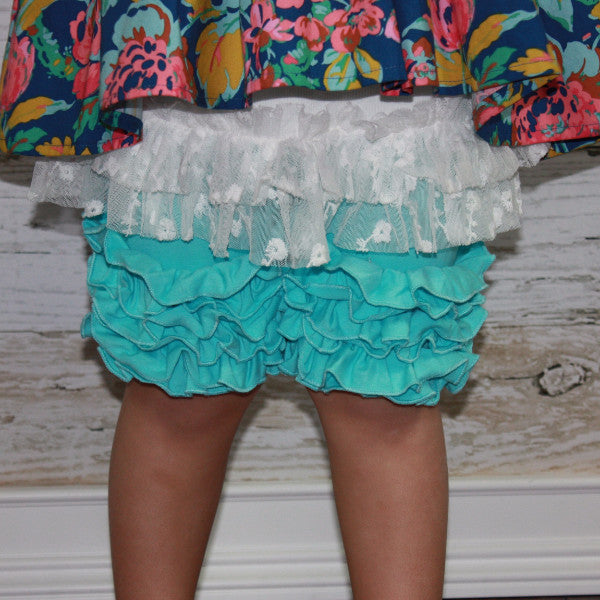 Cyan Icing Shorties - Ooh La La Ruffles Boutique