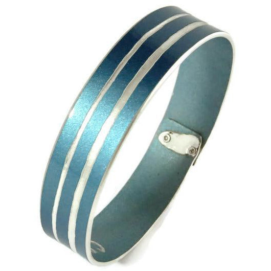 Bentley Windsor Blue Bangle - CRASH Jewelry