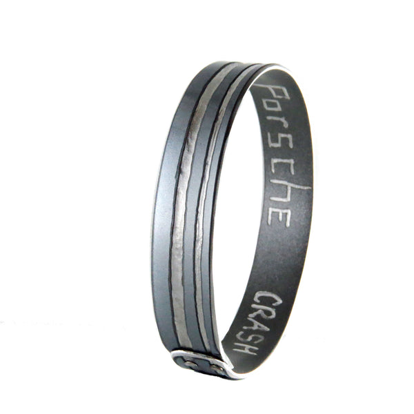 Porsche Sparkly Silver Cabana Bangle - CRASH Jewelry