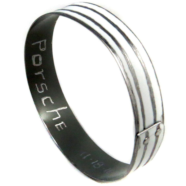 Porsche White Cabana Bangle - CRASH Jewelry