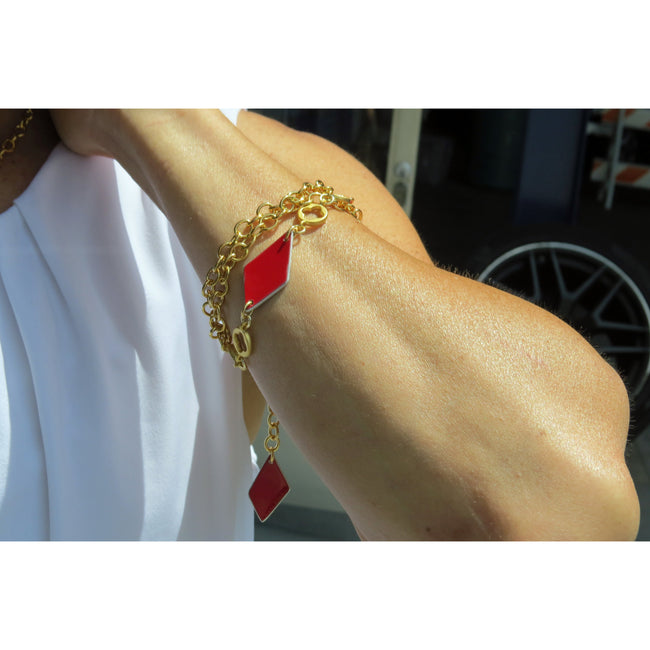 Ferrari Red Diamond Bracelet - CRASH Jewelry