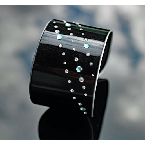 Aston Martin Diamond and Chalcedony Cuff - CRASH Jewelry