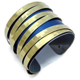 BMW Blue and Gold Cuff - CRASH Jewelry