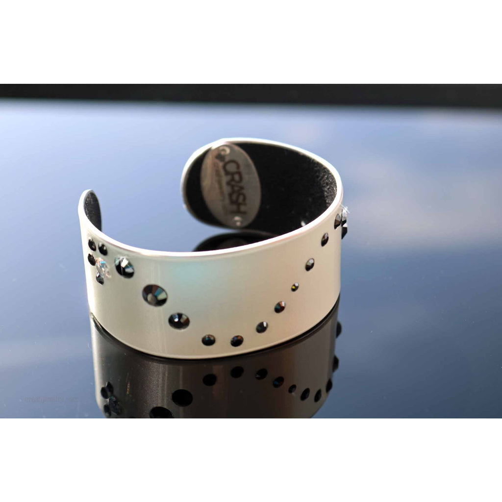 Ferrari Black Crystal Cuff - CRASH Jewelry