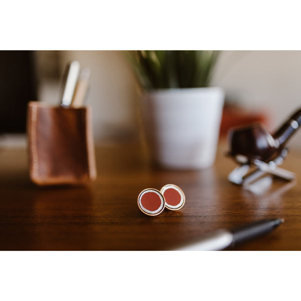 Cherry Tesla Cuff Links - CRASH Jewelry