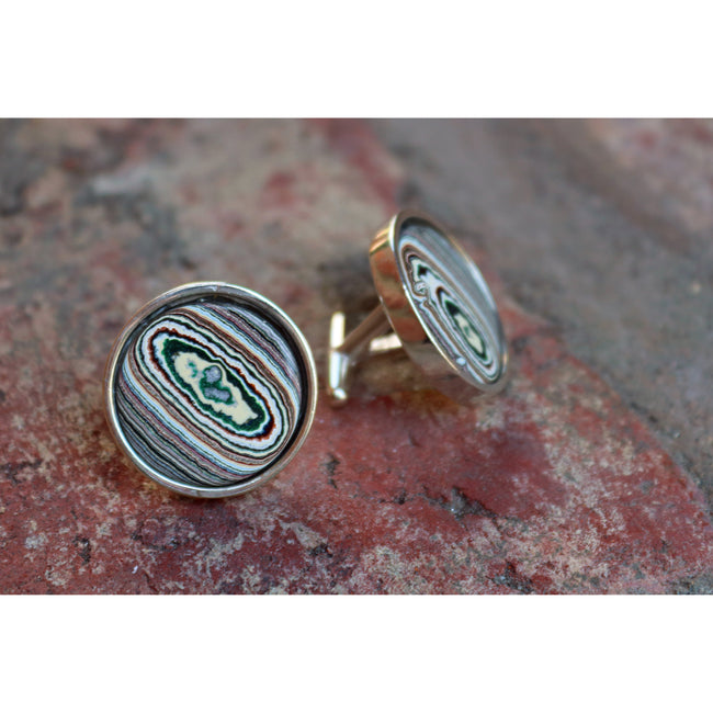 Echo Fordite Cuff Links - CRASH Jewelry