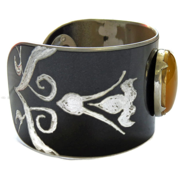 Mercedes Honey Quartz Cuff - CRASH Jewelry
