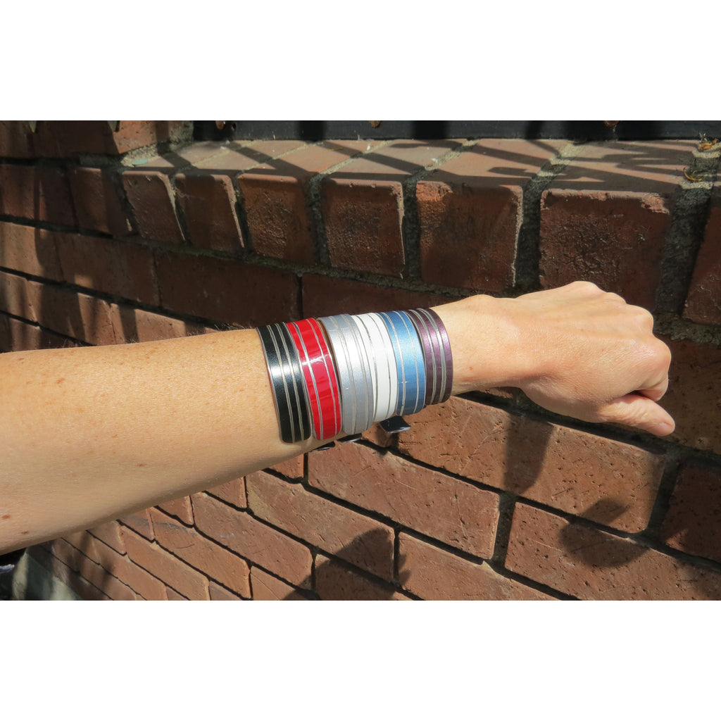 Striped Bentley Cuff - CRASH Jewelry