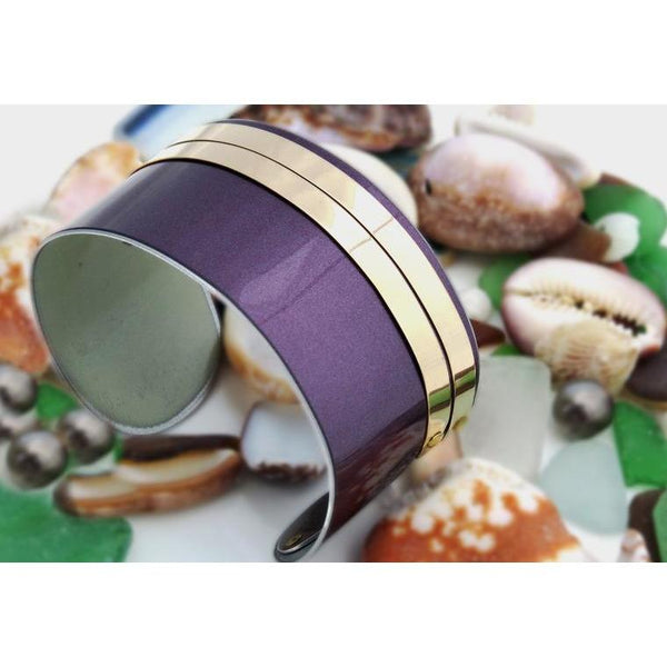 Bentley Flying Spur Purple and Gold Cuff - CRASH Jewelry