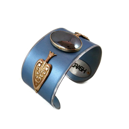 Blue Bentley Bar Cuff