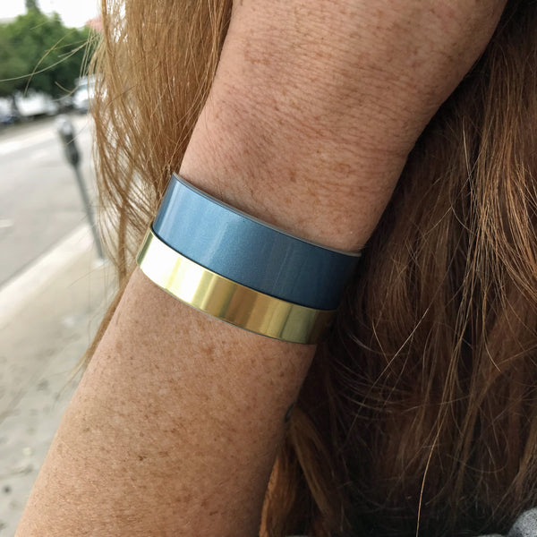Blue Bentley Bar Cuff - CRASH Jewelry