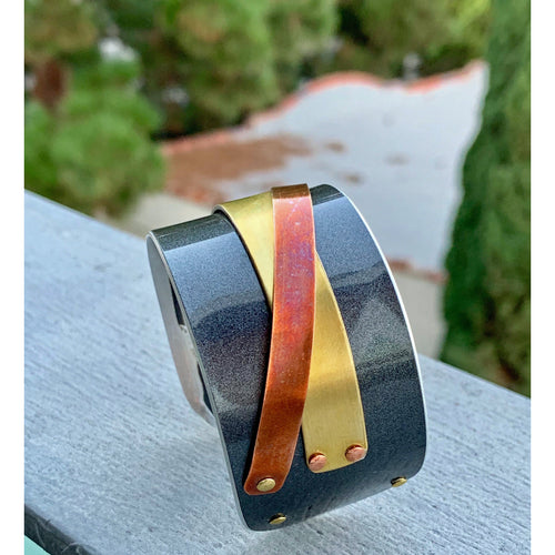 Ferrari Mixed Metal California Cuff - CRASH Jewelry