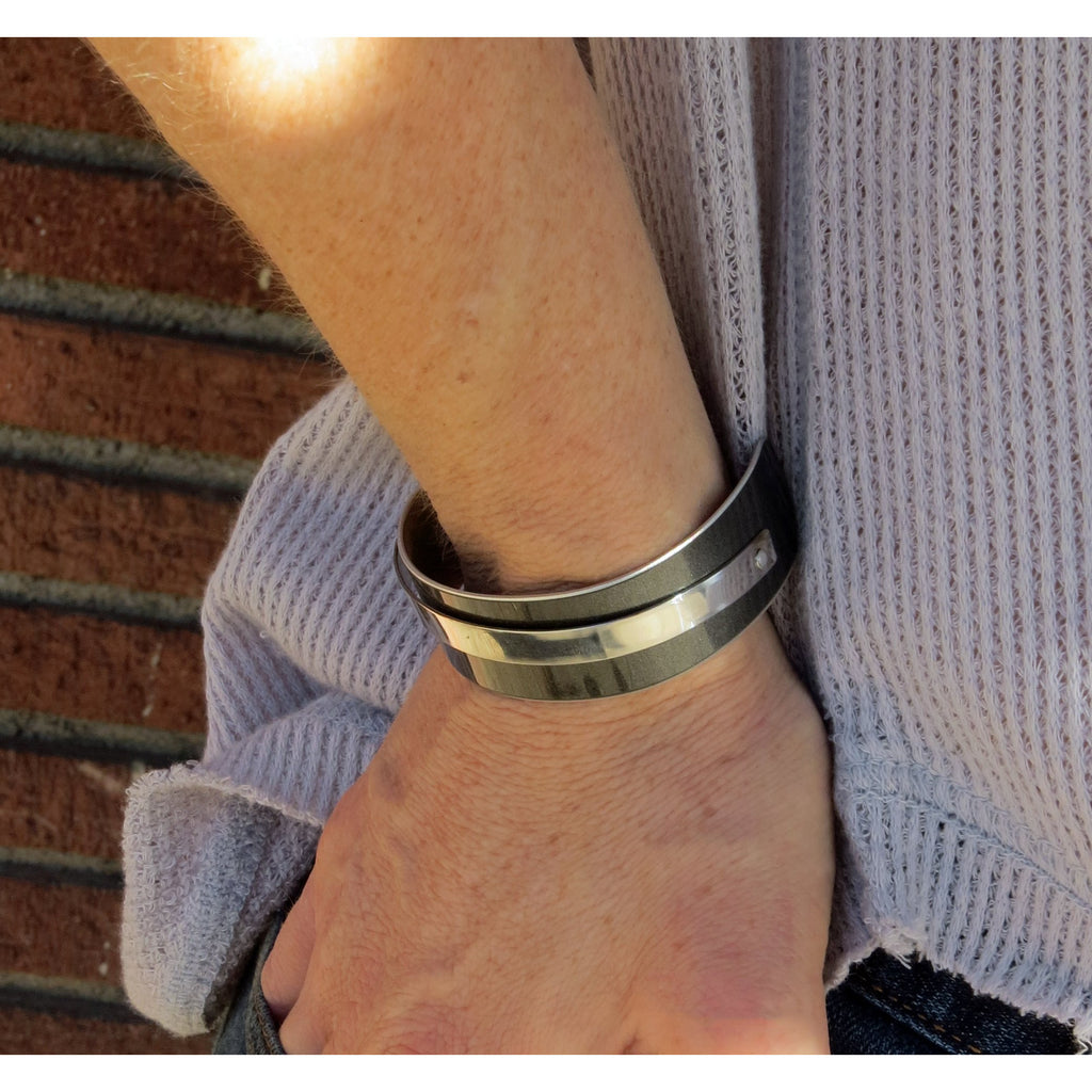 Gray BMW Narrow Cuff - CRASH Jewelry