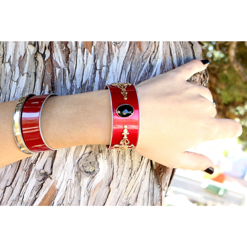 Insane Tesla Cherry Cuff - CRASH Jewelry