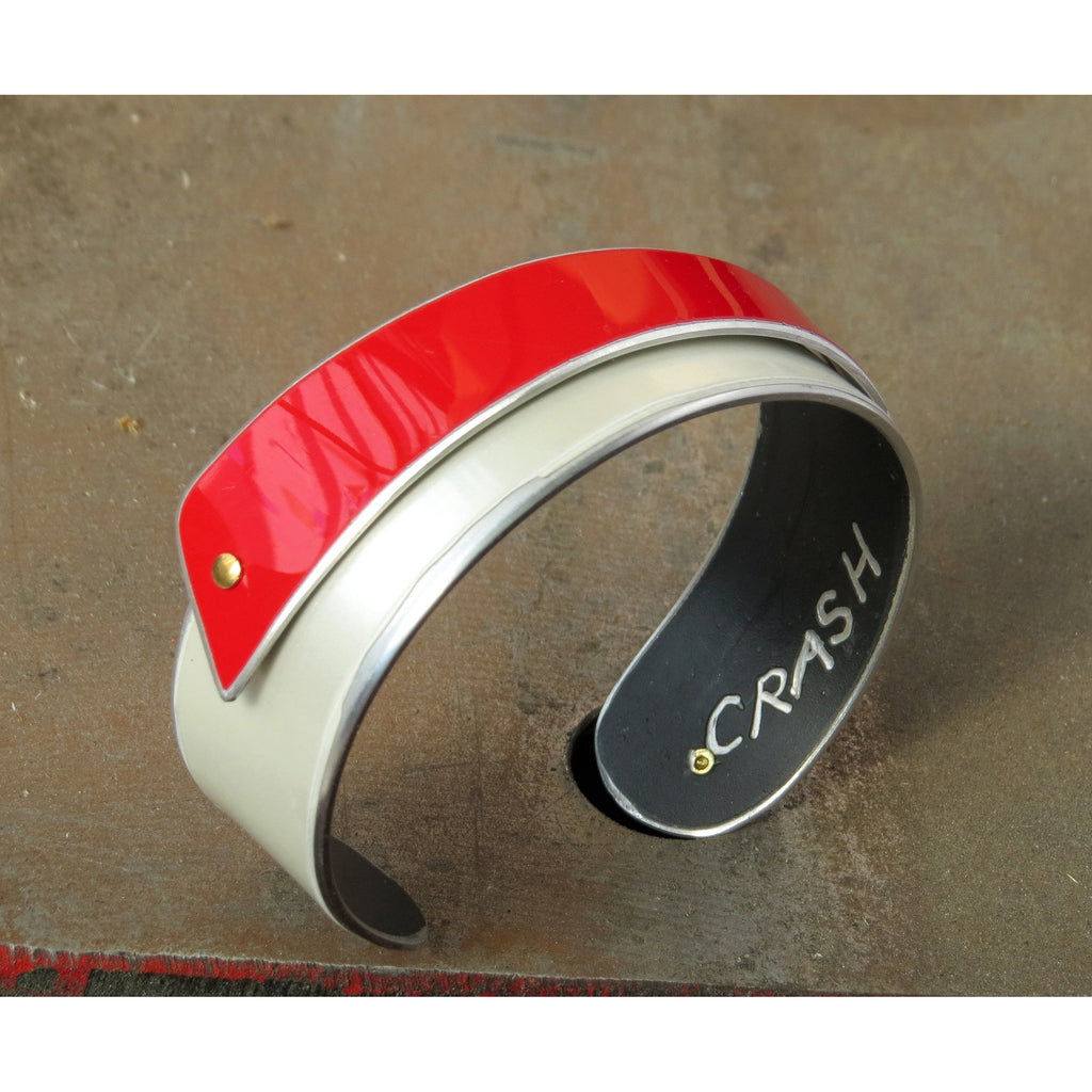Cuffs - Italian Red And White Cuff