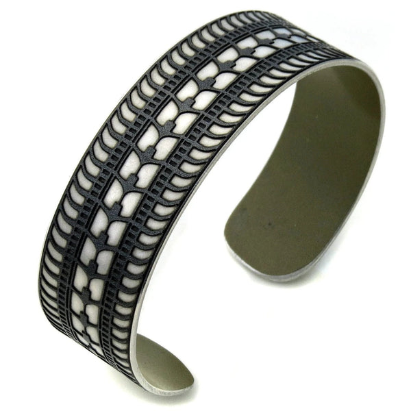 Lamborghini Tire Tread Cuff - CRASH Jewelry