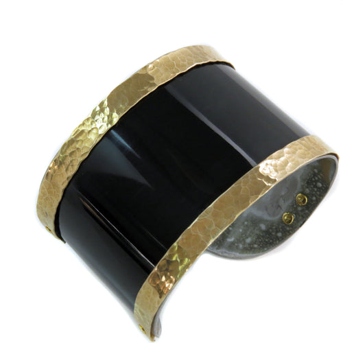 Maserati Black and Gold Cuff - CRASH Jewelry