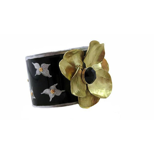 Maserati Vintage Flower Cuff - CRASH Jewelry - 3