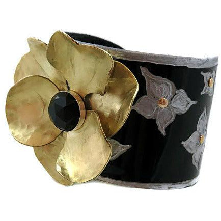 Maserati Vintage Flower Cuff - CRASH Jewelry - 4