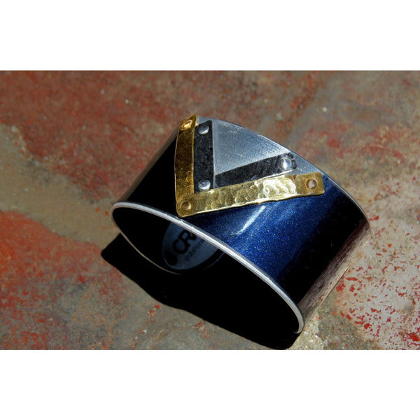 Mercedes Art Deco Cuff - CRASH Jewelry - 2