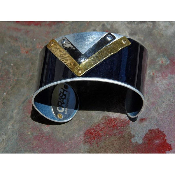 Mercedes Art Deco Cuff - CRASH Jewelry - 3