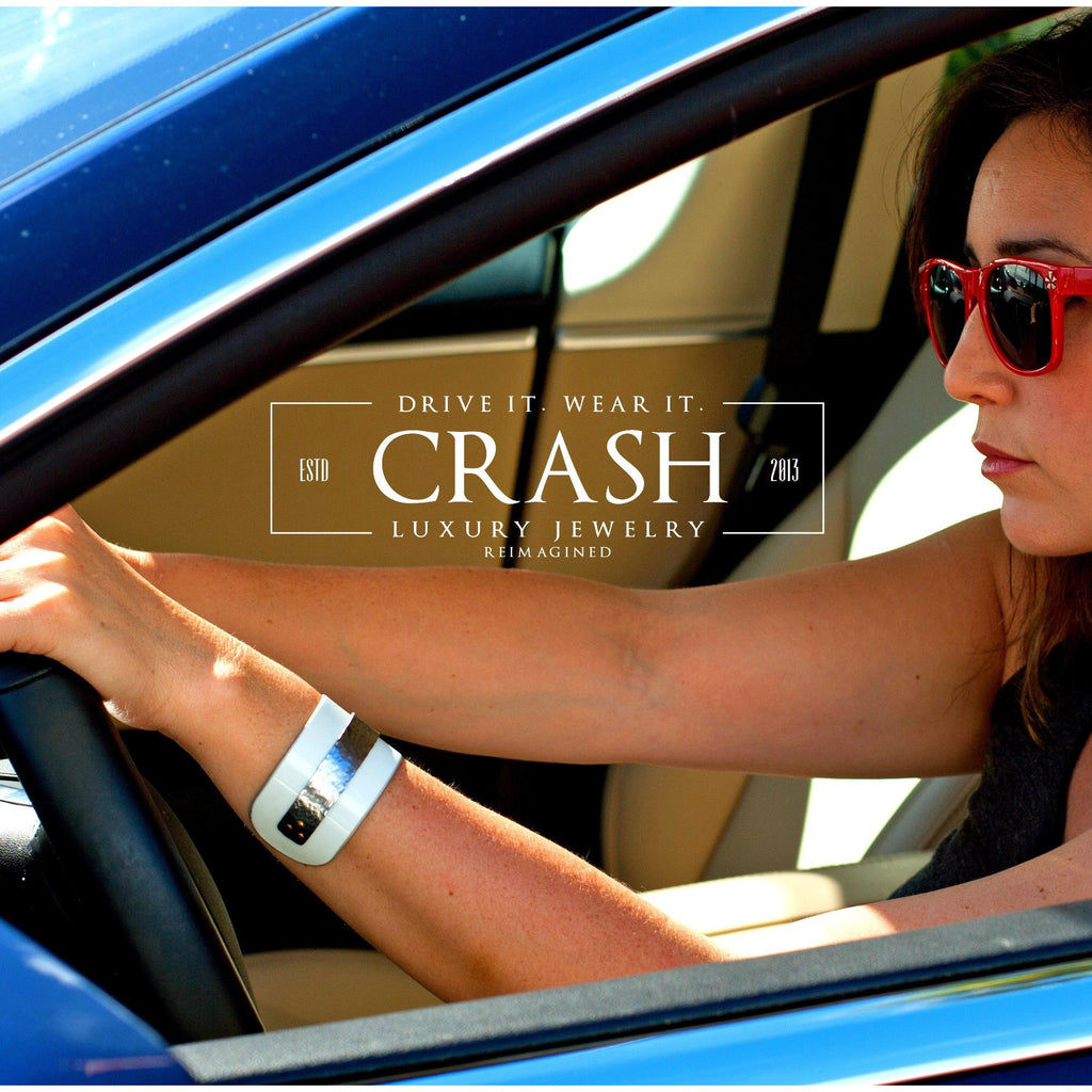 Mercedes-Benz Wide White Cuff - CRASH Jewelry