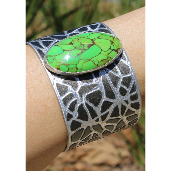 Mercedes SLS Green Turquoise Cuff - CRASH Jewelry