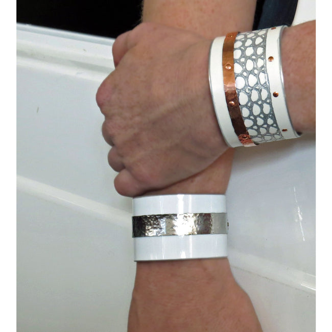 Mercedes SLS White Snake Cuff - CRASH Jewelry