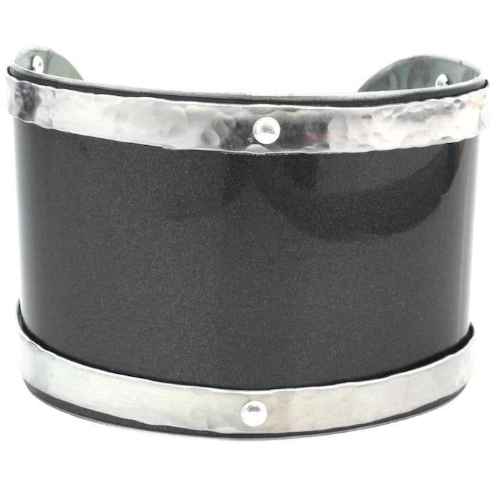 Mini Cooper Gray and Silver Cuff - CRASH Jewelry