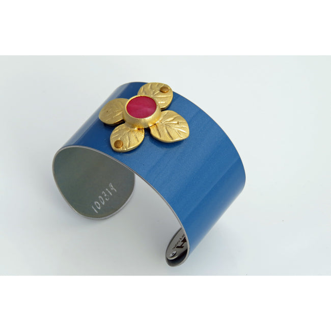 Cuffs - Mini Cooper With Gold Flower