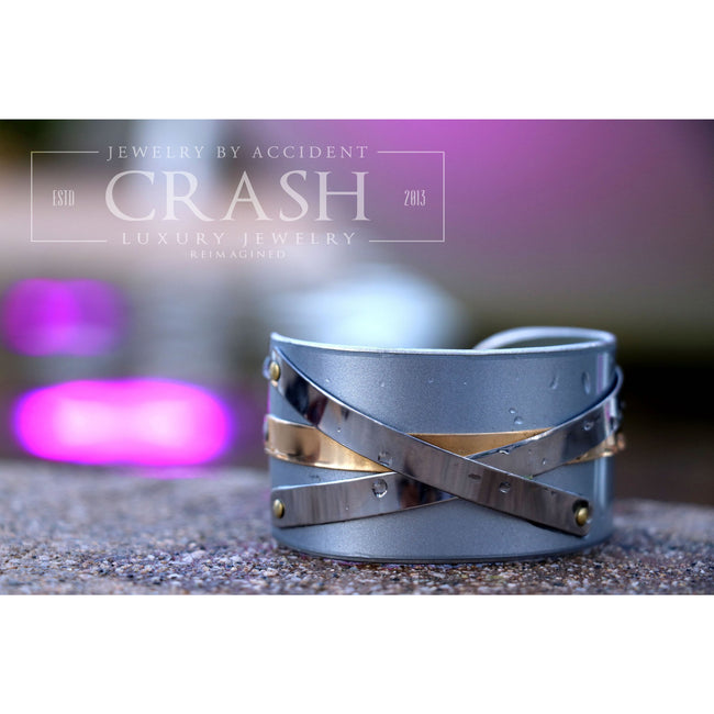 Porsche Silver Carrera Cuff - CRASH Jewelry